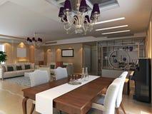 жить интерьера 3d самомоднейший представляет комнату бесплатная иллюстрация