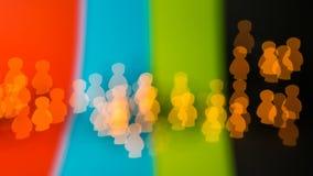 Жить мирно в обществе различных людей Стоковые Фотографии RF