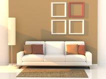 жить 3d самомоднейший представляет комнату иллюстрация штока