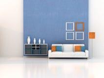 жить 3d самомоднейший представляет комнату иллюстрация вектора
