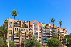Жилая городская архитектура современной Валенсии, Испании Стоковые Фотографии RF