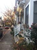 Жилая улица около Принстонского университета Стоковые Изображения