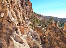 Жилища пещеры скалы Стоковое Фото