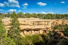 Жилища скалы в национальных парках мезы Verde, CO, США Стоковое фото RF