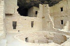 Жилища скалы на национальном парке мезы Verde, Колорадо Стоковое Фото