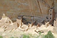 Жилища скалы на национальном парке мезы Verde, Колорадо Стоковые Изображения RF