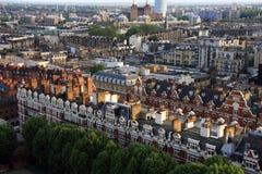 Жилищный фонд Лондона сверху Стоковые Фото