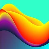 Жидкие цвета с красной желтой фиолетовой предпосылкой конспекта градиента Стоковая Фотография