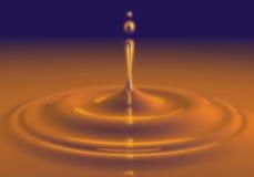 Жидкостное падение Стоковое фото RF