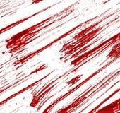 Жидкостный брызнутый красный знак поцарапанный или Стоковое Изображение
