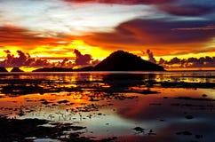 Жидкостный заход солнца Стоковые Фотографии RF
