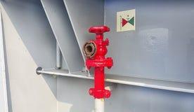Жидкостный огнетушитель на корабле стоковые фото