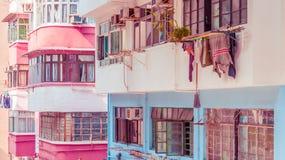 Жилое aprtment в старом районе, Гонконге, Азии Стоковая Фотография