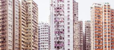 Жилое aprtment в старом районе, Гонконге, Азии Стоковые Изображения RF