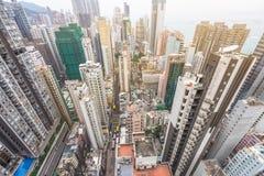 Жилой квартал Hong Kong Стоковое Изображение