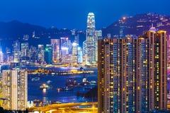Жилой дом в Гонконге стоковое изображение rf