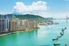 Жилой дом в Гонконге стоковые фотографии rf