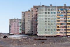 жилой дом Мульти-этажа в Норильск Стоковая Фотография