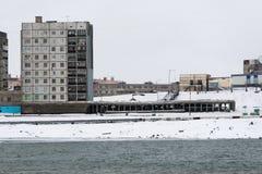 жилой дом Мульти-этажа в Норильск Стоковое Фото