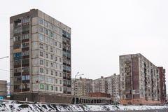 жилой дом Мульти-этажа в Норильск Стоковые Изображения RF
