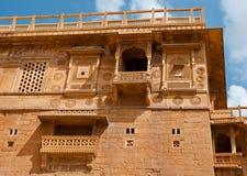 Жилой дом на форте Jaisalmer, Jaisalmer, Индия Стоковые Фотографии RF