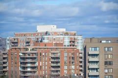 Жилой дом с балконами Стоковые Изображения RF