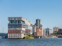 Жилой дом Silodam в Амстердаме, Голландии Стоковое Изображение RF