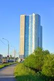 Жилой принц Александр Nevsky небоскреба Стоковые Фото