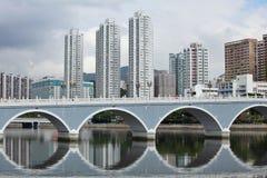 Жилой район в Гонконге стоковое изображение