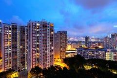 Жилой район Гонконга стоковая фотография rf