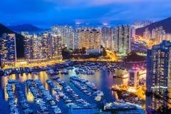 Жилой район Гонконга стоковые фотографии rf