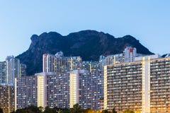 Жилой район Kowloon стоковая фотография rf