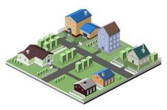 Жилые жилищные строительства Стоковая Фотография RF