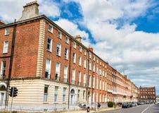 Жилые дома в Дублине - Ирландии Стоковая Фотография