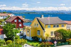 Жилые дома в Норвегии стоковое изображение rf