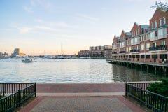 Жилые дома в районе внутренней гавани в Балтиморе, Maryl Стоковые Фото