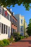 Жилые дома строки в столице США Стоковое фото RF