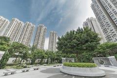 Жилые дома Highrise в Гонконге Стоковое Изображение
