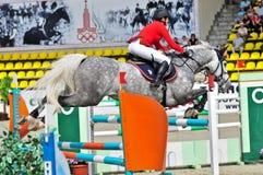 жокей барьера конкуренции скачет сверх Стоковая Фотография RF