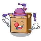 Жонглируя картон мультфильма помещенный рядом со стулом бесплатная иллюстрация