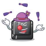 Жонглируя кнопка конца расположенная на клавиатуре мультфильма бесплатная иллюстрация