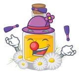 Жонглируя масло стоцвета помещенное в бутылке мультфильма бесплатная иллюстрация