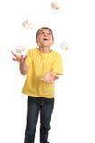 жонглируя настоящие моменты Стоковые Изображения