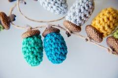 Жолудь вязания крючком Стоковые Фото