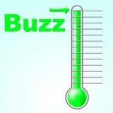Жужжание термометра значат связи с общественностью и осведомленное Стоковые Фото