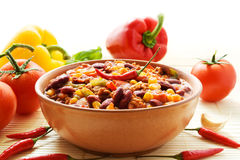 жулик chili carne Стоковые Изображения