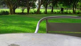Журнальный стол установленный около парка Стоковое фото RF