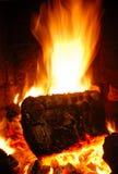 журнал пожара Стоковая Фотография