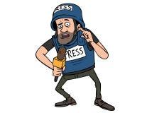 Журналист войны иллюстрация штока