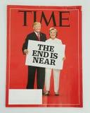 Журнал Тайм выданный перед президентскими выборами 2016 на дисплее Стоковое Изображение